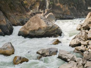 China Yunnan Xianggelila Hutiaoxia canyon Lijiang River