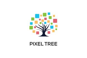 PIXEL TREE LOGO DESIGN