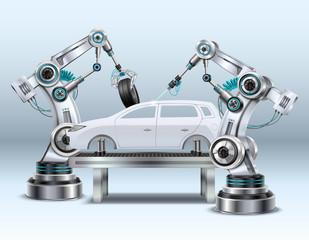 Robotic Arm Realistic Composition