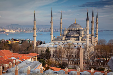Blue Mosque, Istanbul. Image of the Blue Mosque in Istanbul, Turkey during spring day.