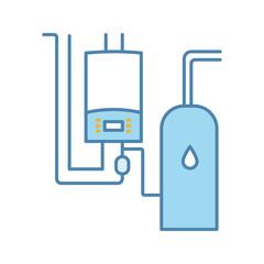 Boiler room color icon