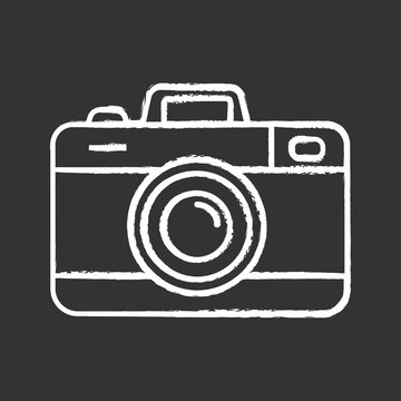 Photo camera chalk icon