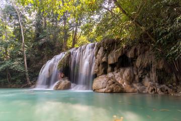 Tropics Waterfalls / Erawan Falls/ Thailand 05-28-2018