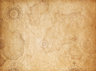 Wall Mural - Vintage treasure map background