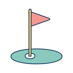 Golf Icon Vector Illustration