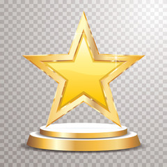 podium star golden yellow