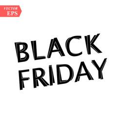 Black friday sale on white background. eps10