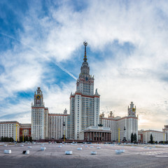 Main building of the Lomonosov Moscow State University, the tallest educational building in the world.