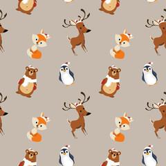 animal cute pattern christmas