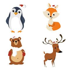 animal zoo christmas collection