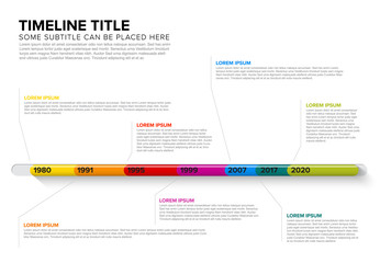 Glassy Infographic Timeline Template