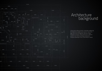 Architectural drawing. Vector illustration.