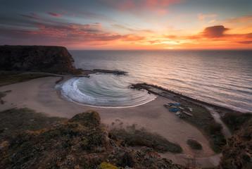 Paradise bay / Amazing sunrise at the Black Sea coast, Bolata bay in Bulgaria