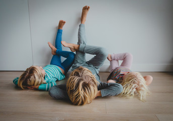 kids relax at home - home comfort and laziness