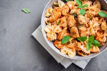 Farfalle pasta with chicken