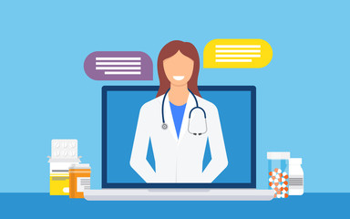 Online medical consultation and support. Online doctor