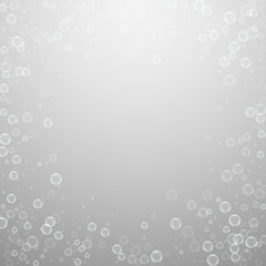 Soap bubbles abstract background. Blowing bubbles