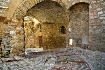 Fototapeta Streets of Spello in Umbria, Italy.  obraz