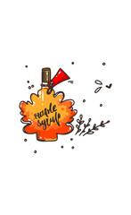 Maple syrup bottle logo icon