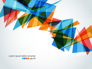 Colorful triangular geometric vector bakcground Wall mural