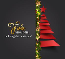 Frohe Weihnachten - Weihnachtskarte