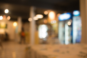 Blurred of restaurant interior  abstract background