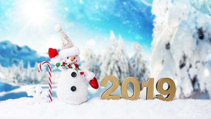 2019 Silvester Karte WInter karte