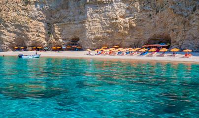 Wall Mural - Paradise beach, Ionian sea coast, Corfu island, Greece