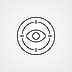 Eye scan vector icon sign symbol