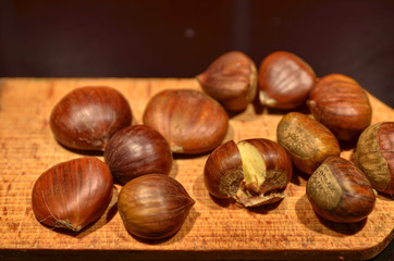 Chestnuts cutting board