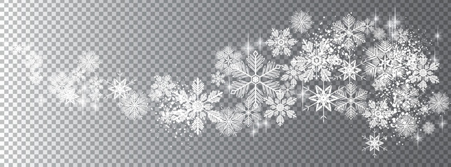 Transparent snow wave template Fotomurales