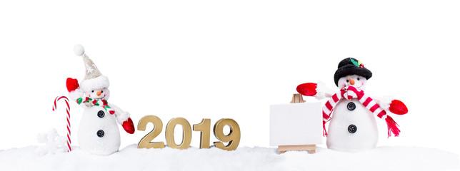 2019 Karte Schneemann