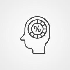 Man head vector icon sign symbol