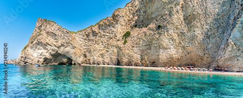 Wall mural Wid beach Paradise on Corfu island, Ionian sea coast, Greece