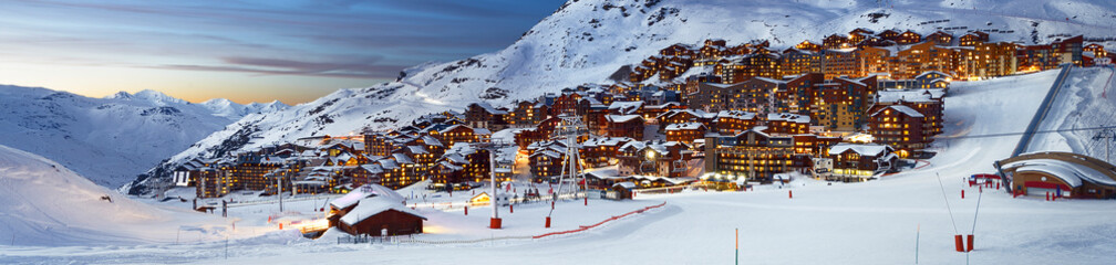 Val Thorens in France Wall mural