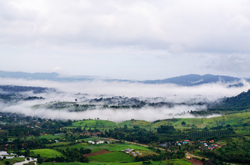 Morning misty in mountain at Khao-kho Phetchabun,Thailand