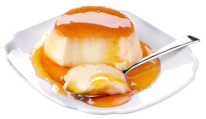CREME CARAMEL CUT OUT