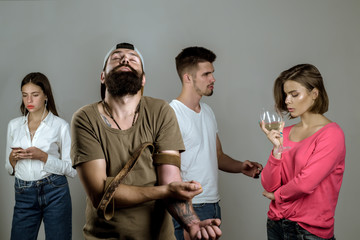 Stop drug addiction. Drugs Effects on the Body. Addictive group including alcohol cigarettes and drugs.