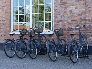 some retro bicycles