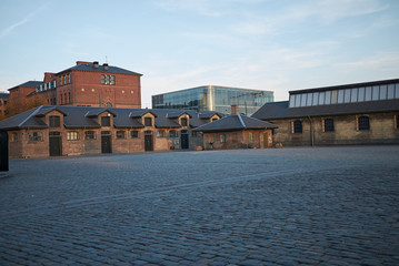 Copenhagen, denmark - October 10, 2018 : View of the Brown district in the Meatpacking District