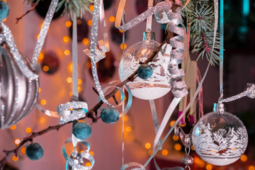 Christmas decorations and New Year holidays decor