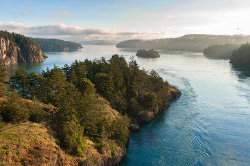 Deception Pass Park, Washington. Deception Pass is a strait separating Whidbey Island from Fidalgo Island, in the northwest part of the U.S. state of Washington. Wall mural