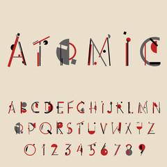 Retro geometric font. 20s 30s style. Vector illustration
