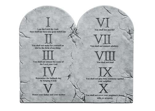 The Ten Commandments,  3D rendering