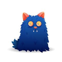 Unusual cartoon character monster cat