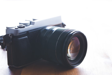 The vintage camera.