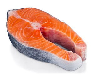 Fresh Raw Salmon Isolated