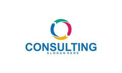 consulting logo design template