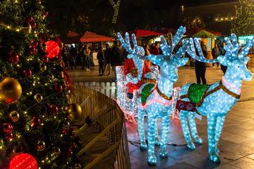 Tirana holidays decoration.