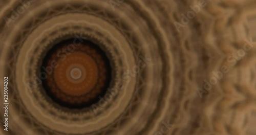 Kaleidoscope concentric circles horse hair fabric texture